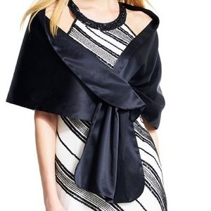 Adrianne Pappell black formal wrap